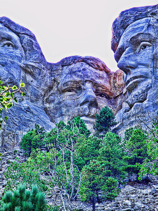 Mount Rushmore Roosevelt Photograph by Tommy Anderson