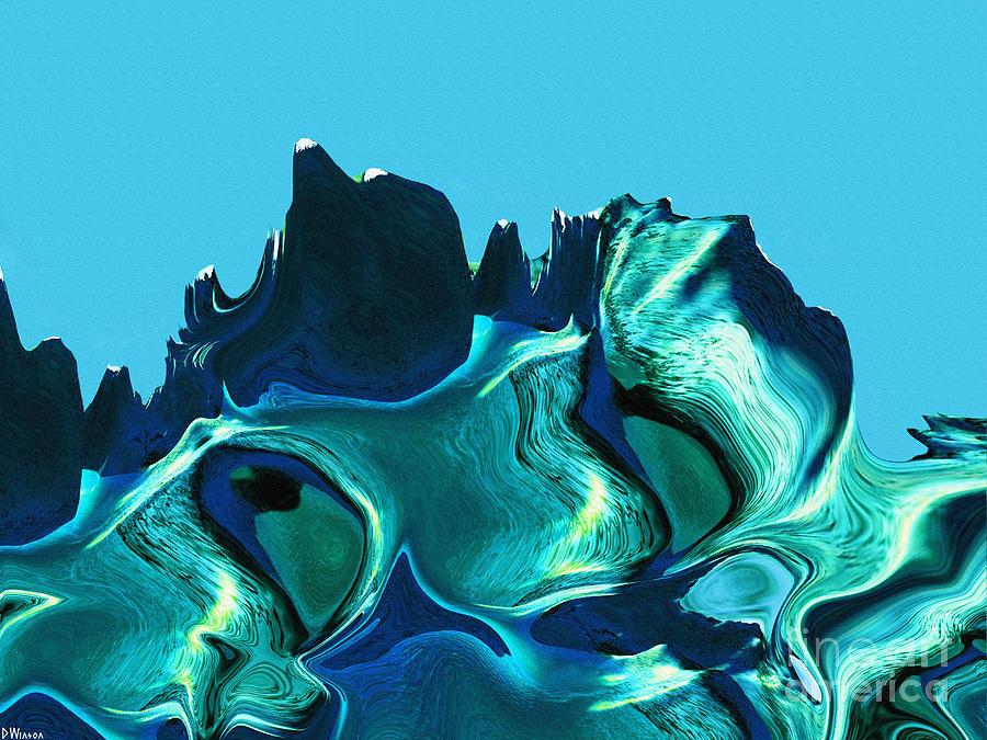 Strength Painting - Mount Strength-night by David Winson
