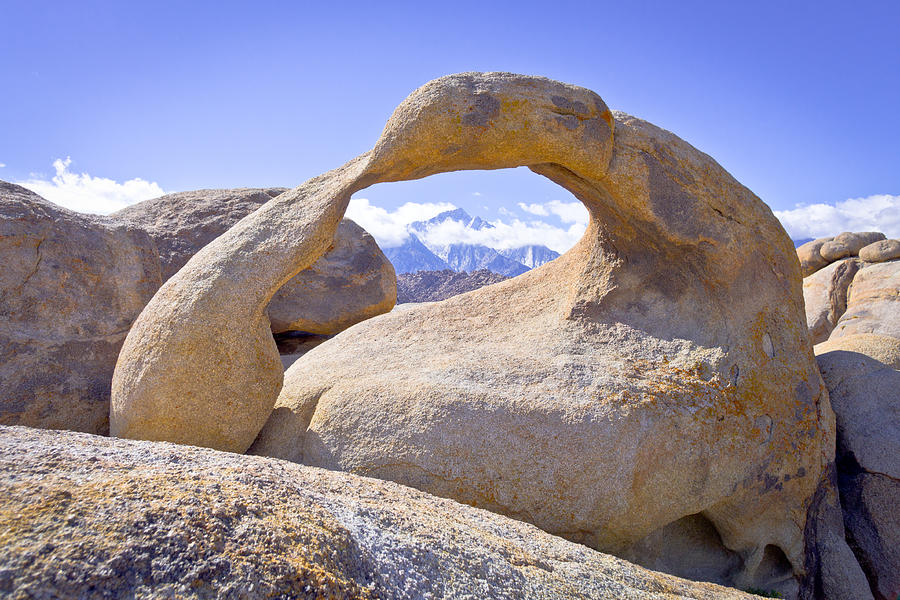 Mount Whitney Framed By The Mobius Arch Photograph  - Mount Whitney Framed By The Mobius Arch Fine Art Print