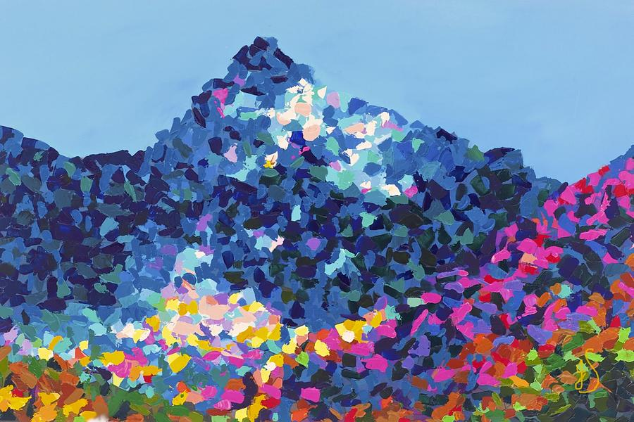 Mountain Abstract Jasper Alberta Painting  - Mountain Abstract Jasper Alberta Fine Art Print
