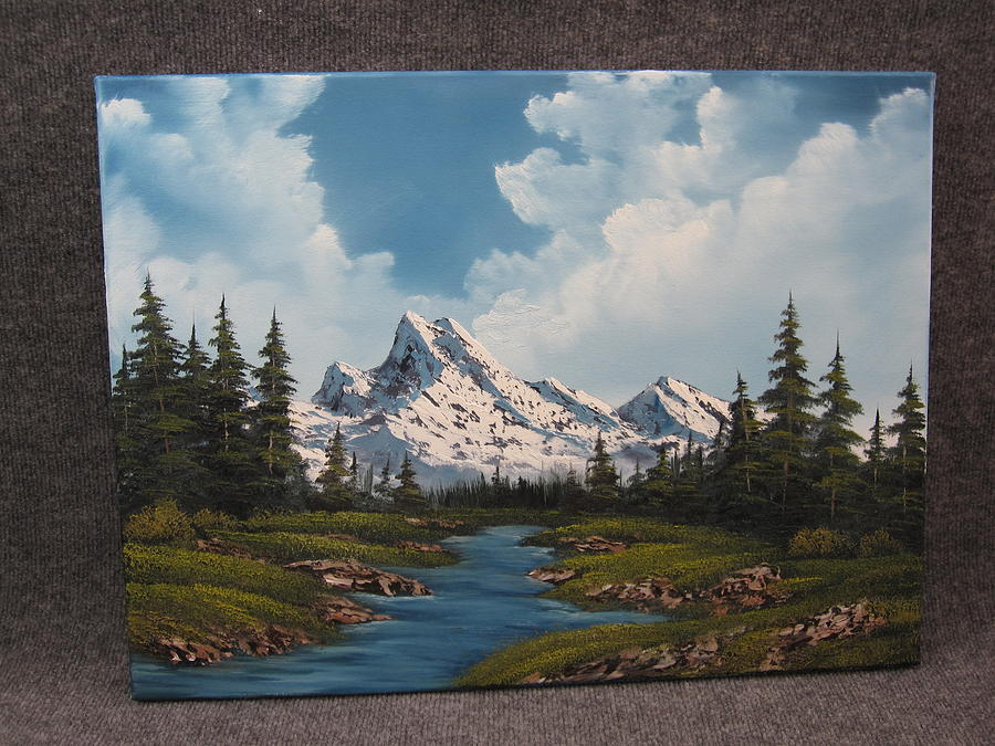 Mountain By The River Painting