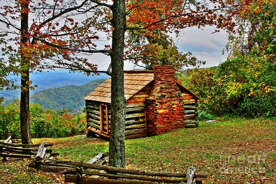 Mountain Cabin 1 Photograph  - Mountain Cabin 1 Fine Art Print