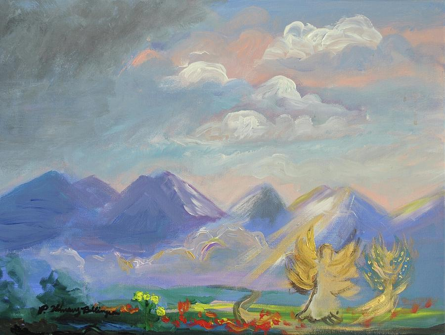 Mountain Dream Painting  - Mountain Dream Fine Art Print