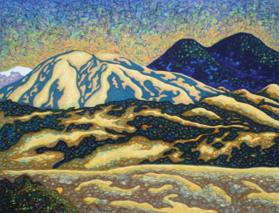Mountain Glow Drawing