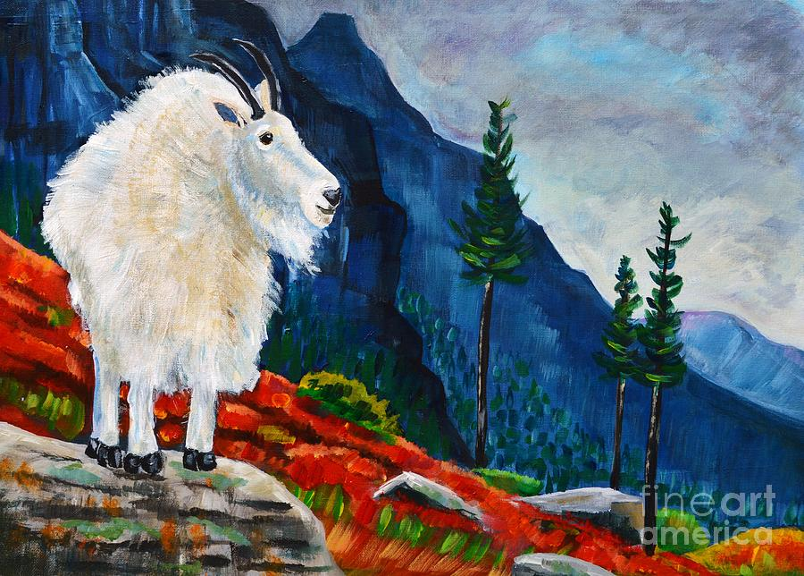 Mountain Goat Country Painting  - Mountain Goat Country Fine Art Print