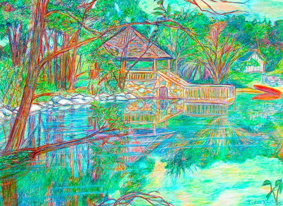 Mountain Lake Reflections Painting