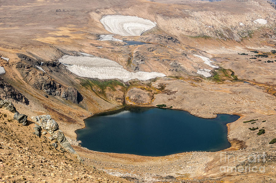 Mountain Lakes And Glaciers Photograph
