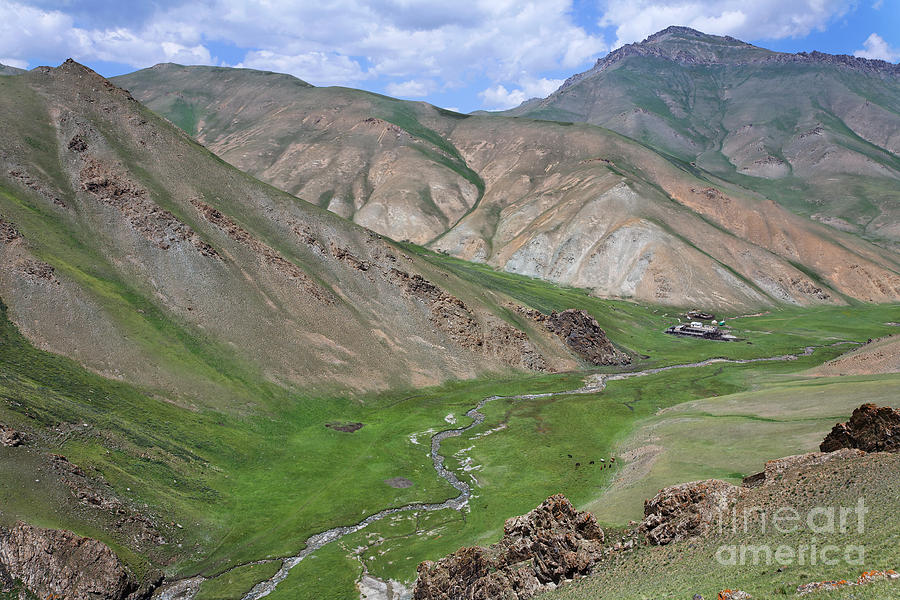 Mountain Landscape In The Tash Rabat Valley Of Kyrgyzstan Photograph