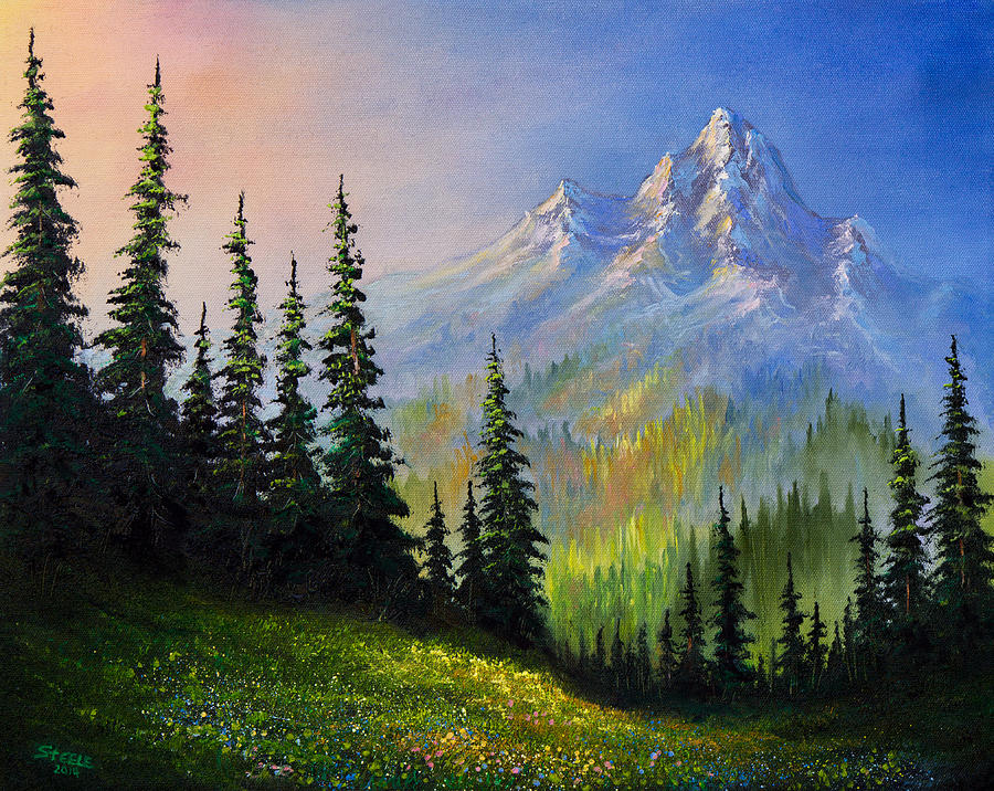 Mountain Morning Painting