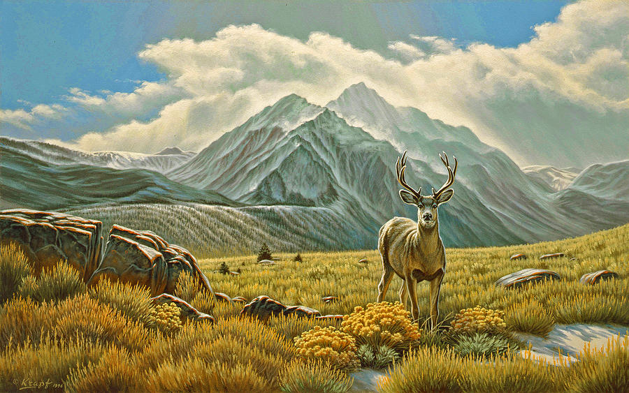 Mountain Muley Painting