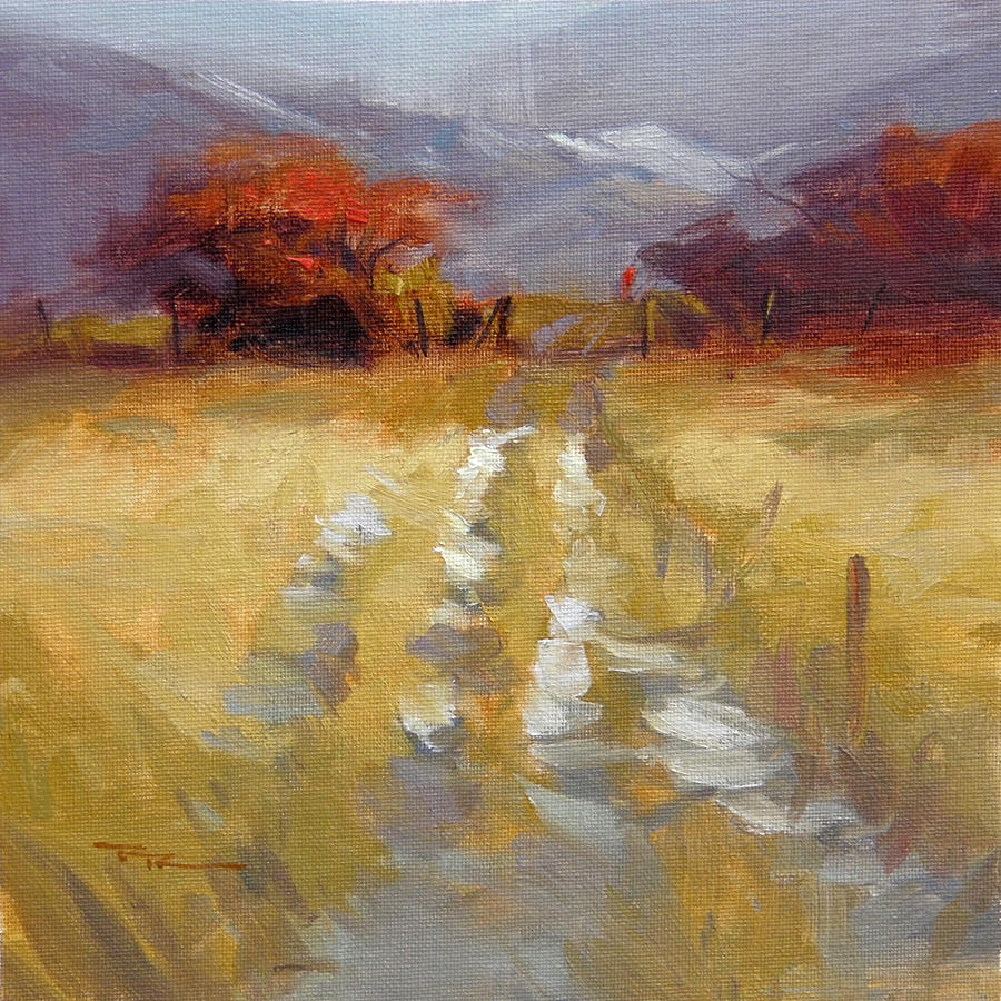Landscape Painting - Mountain Path by Richard Robinson