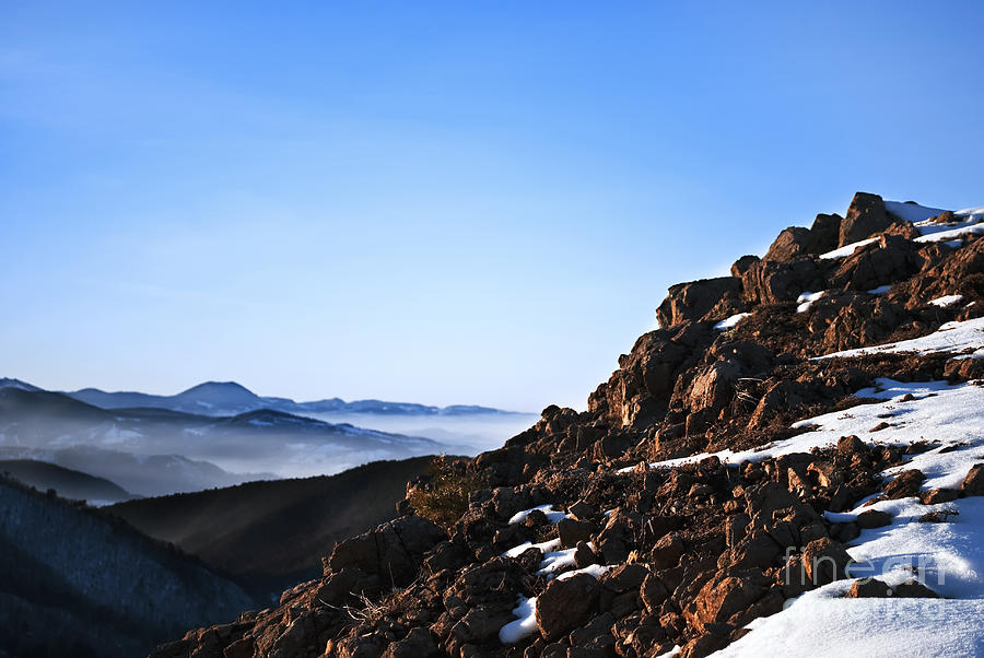 Mountain Peak Pyrography