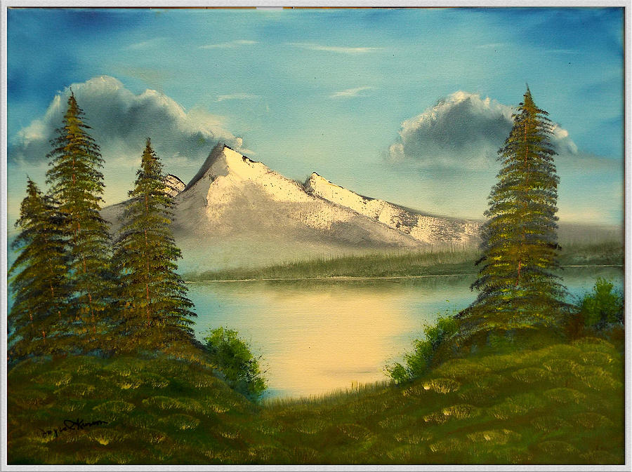 Mountain Pond Painting