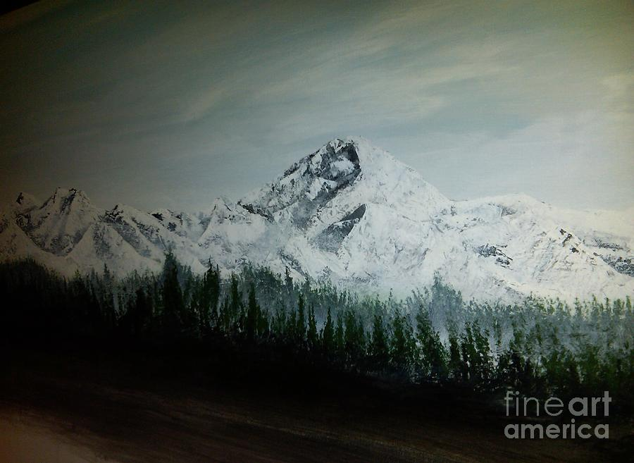 Mountain Range Painting  - Mountain Range Fine Art Print