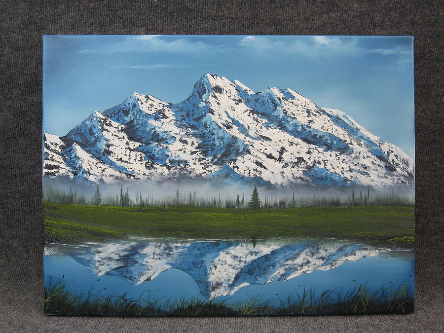 Mountain Reflections Painting