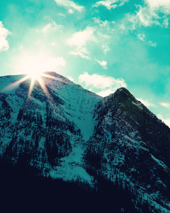 Day Photograph - Mountain Starburst by Kim Fearheiley