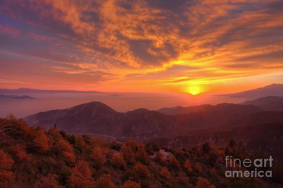 Mountain Photograph - Mountain Sunset by Eddie Yerkish