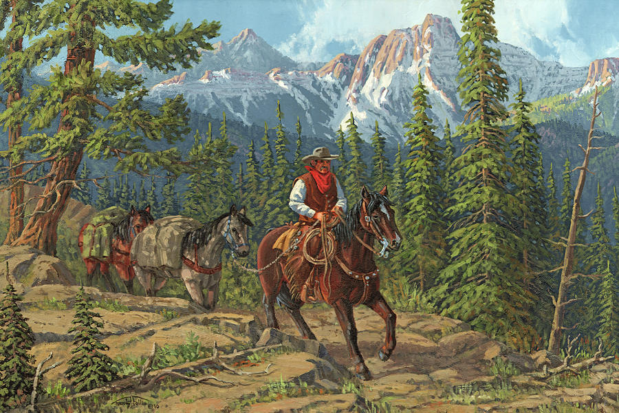 Mountain Traveler Painting  - Mountain Traveler Fine Art Print