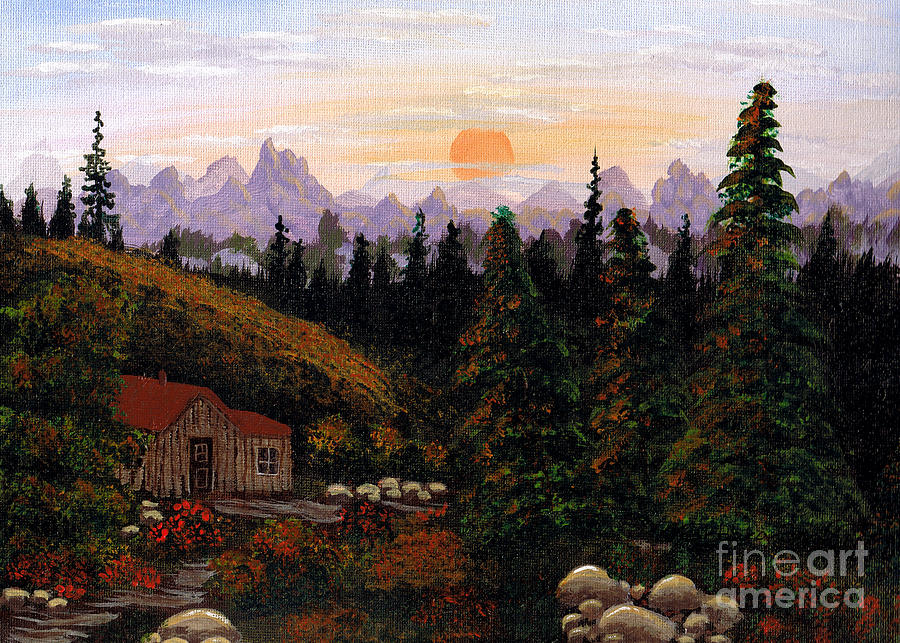 Mountain View Painting  - Mountain View Fine Art Print