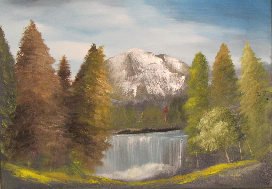 Mountains Painting - Mountain View by Dawn Nickel