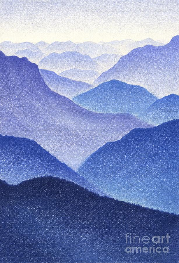 Mountains Drawing  - Mountains Fine Art Print