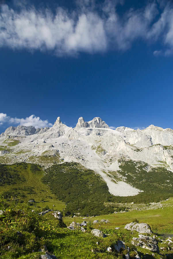 Mountains In The Alps Photograph