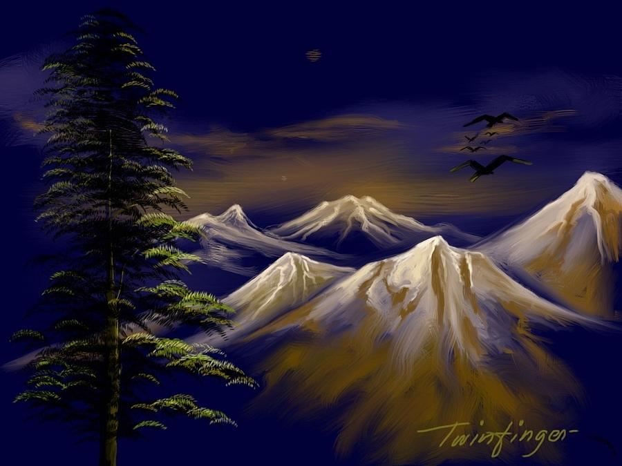 Mountains Painting  - Mountains Fine Art Print