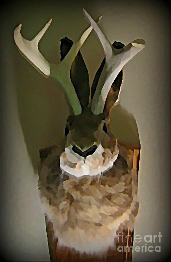 Mounted Jackalope From Vegas Photograph