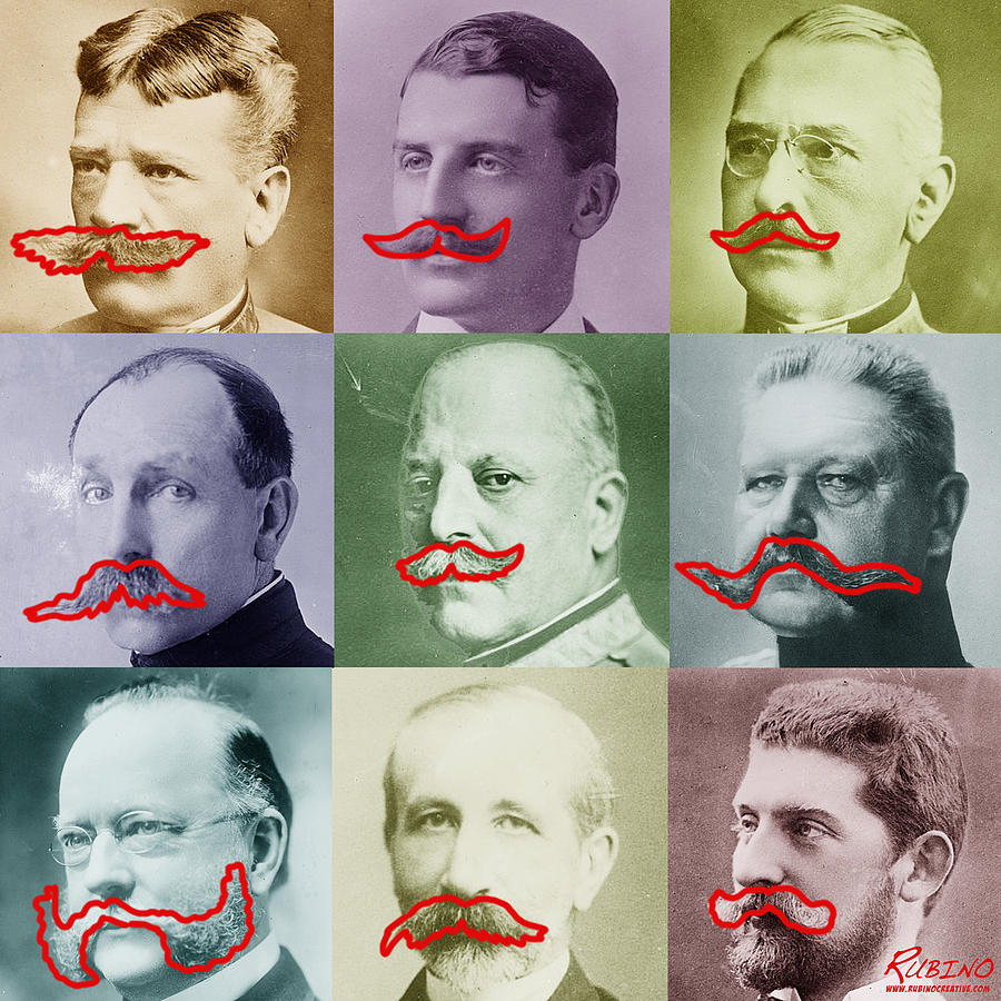 Moustaches Painting  - Moustaches Fine Art Print