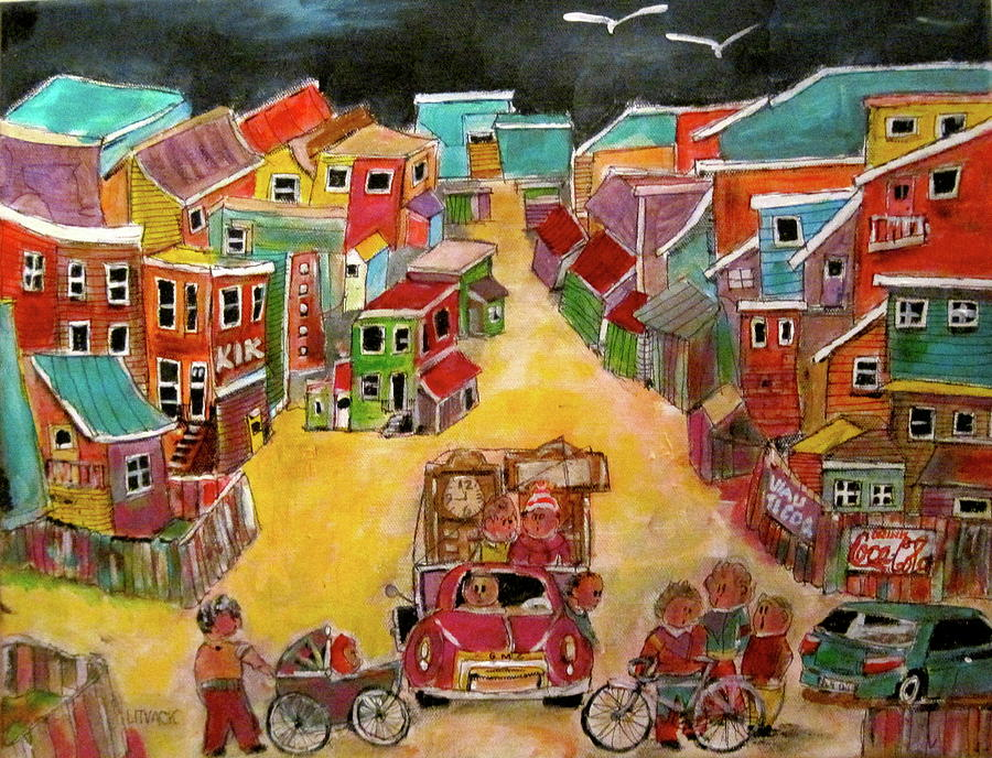 Moving Painting - Moving Day July by Michael Litvack