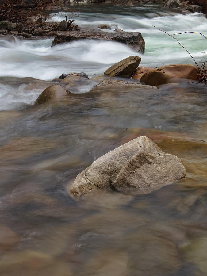 Mp0007 Richland Creek Grey Rock Photograph