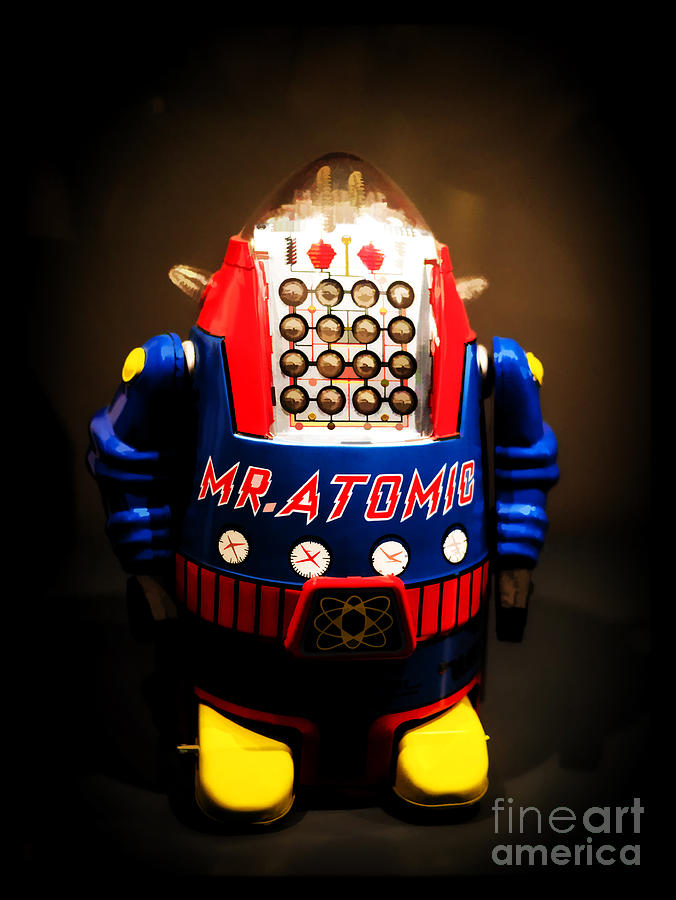 Mr. Atomic Tin Robot Photograph  - Mr. Atomic Tin Robot Fine Art Print