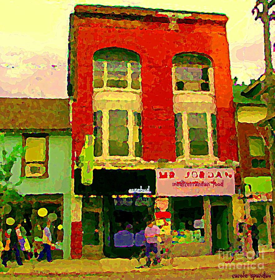 Mr Jordan Mediterranean Food Cafe Cabbagetown Restaurants Toronto Street Scene Paintings C Spandau Painting