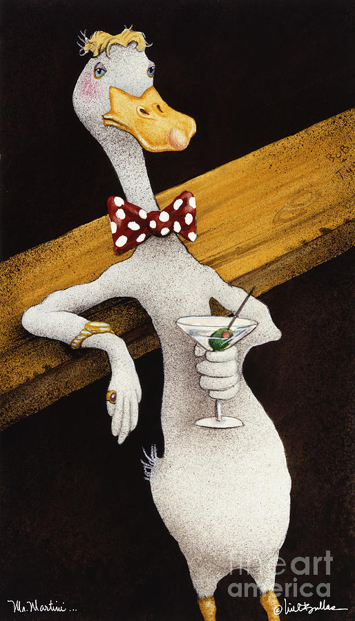 Mr. Martini... Painting  - Mr. Martini... Fine Art Print