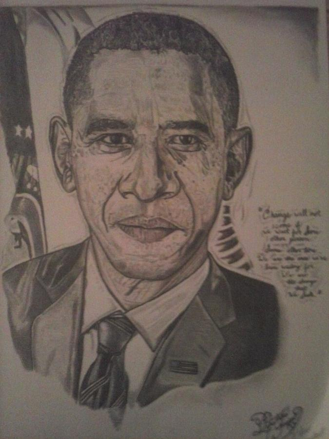President Drawing - Mr. President by Demetrius Washington