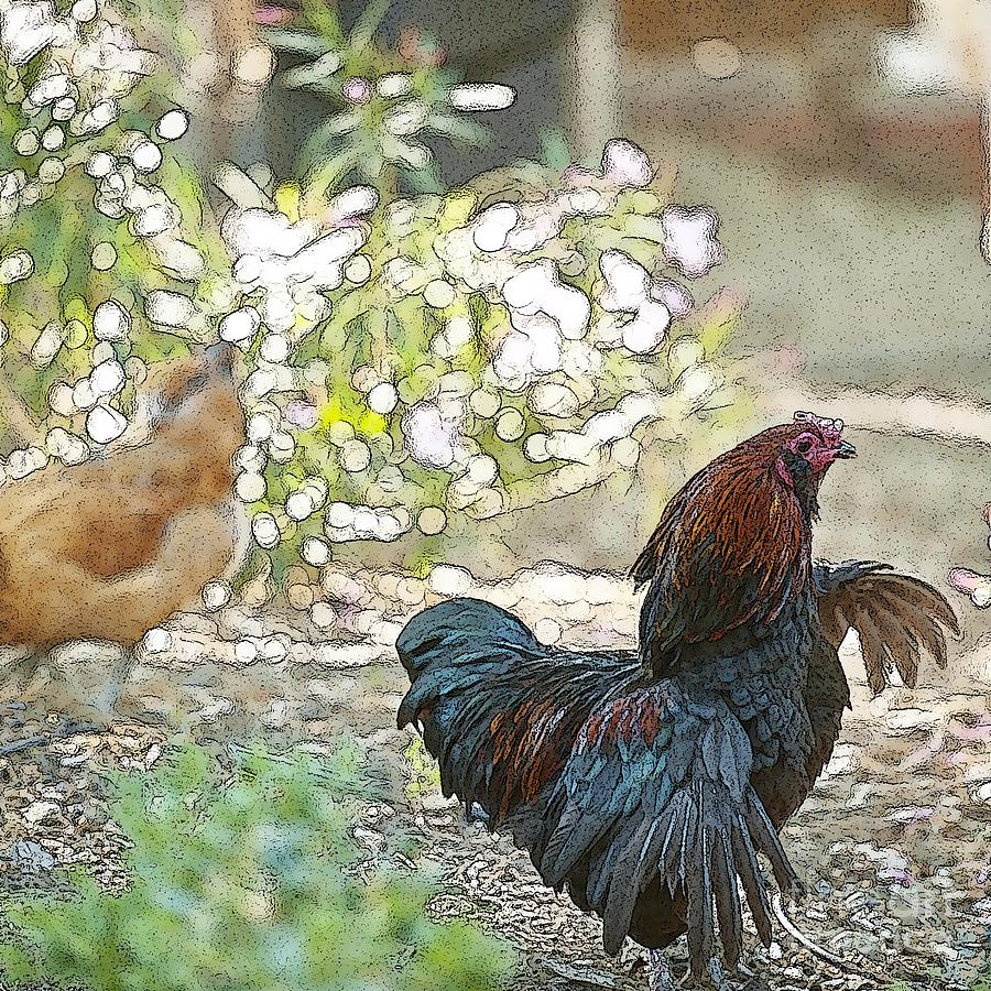 Mr. Rooster Struts Digital Art