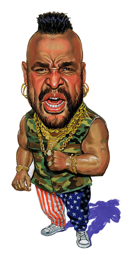 Mr. T Painting  - Mr. T Fine Art Print