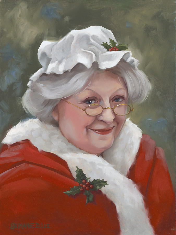 Mrs claus painting by stephanie lee