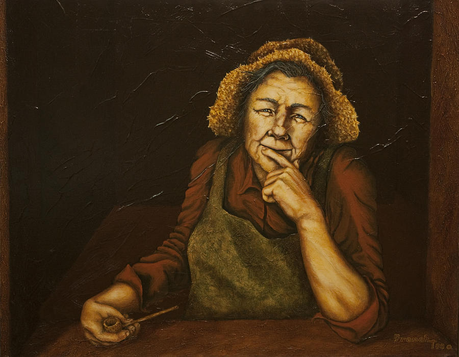 C Michael French Portraits Painting - Mrs. Zackaharia by C Michael French