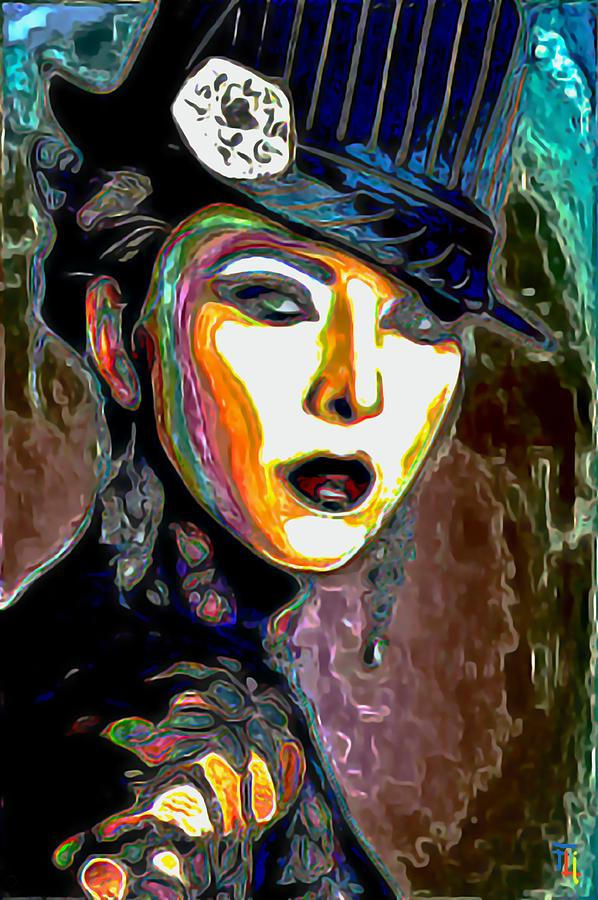 Ms Boss Lady Painting  - Ms Boss Lady Fine Art Print