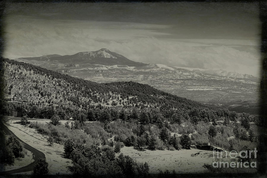 Mt Abrams In Black And White Photograph