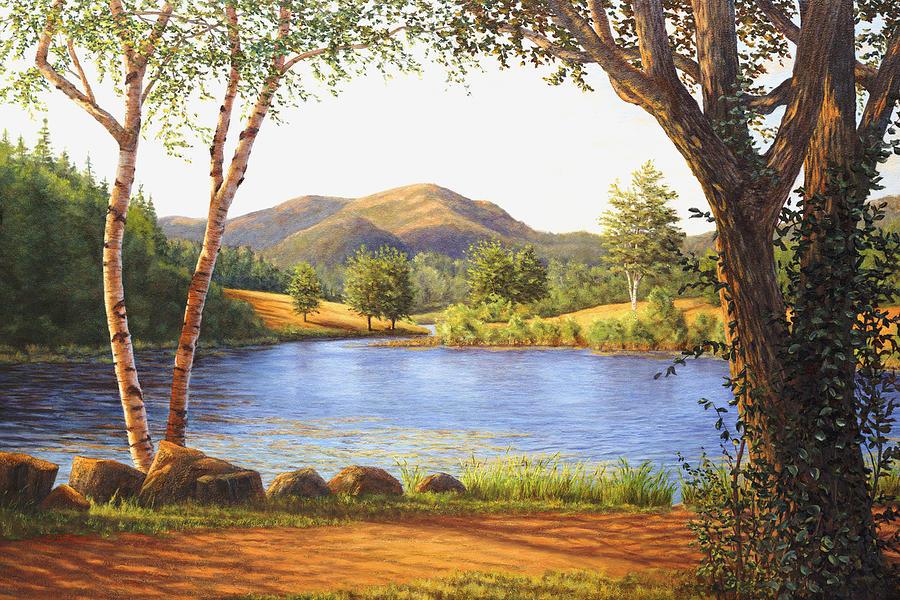Elaine Farmer Painting - Mt. Bernard by Elaine Farmer