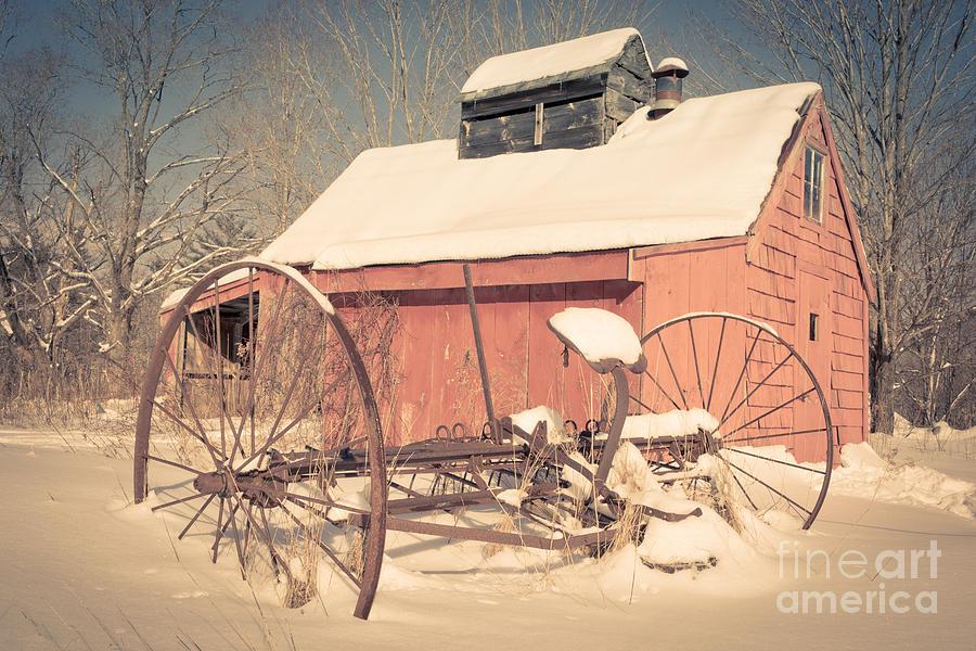 New Hampshire Photograph - Mt. Cube Farm Old Sugar Shack by Edward Fielding
