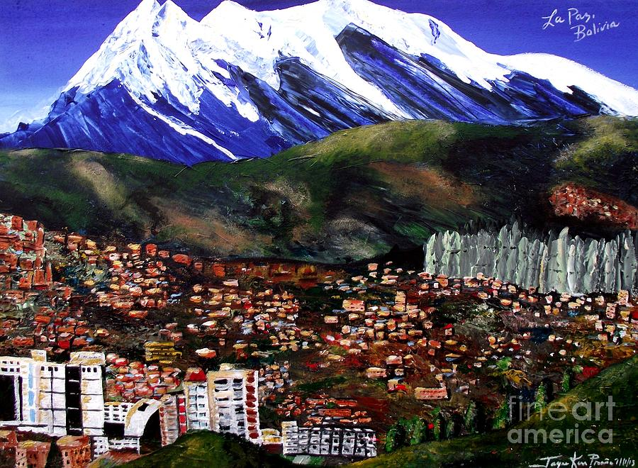 Mountain Canvas Print Painting - Mt Illimani La Paz Bolivia by Jayne ...