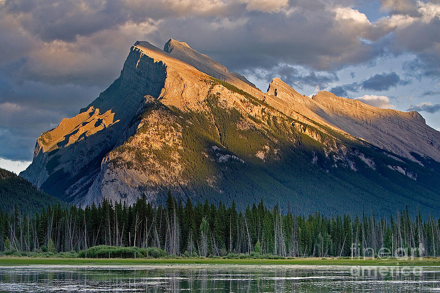 Mt Rundle Photograph - Mt. Rundle Grandeur by Jerry Fornarotto