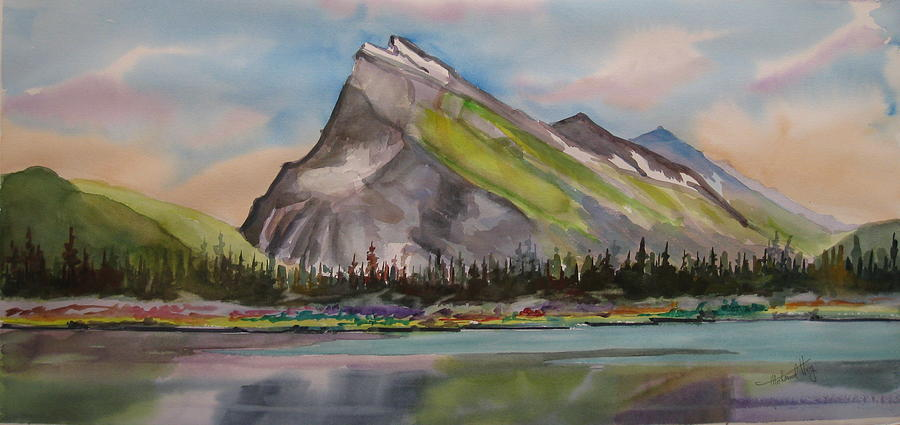 Mt. Rundle Painting  - Mt. Rundle Fine Art Print