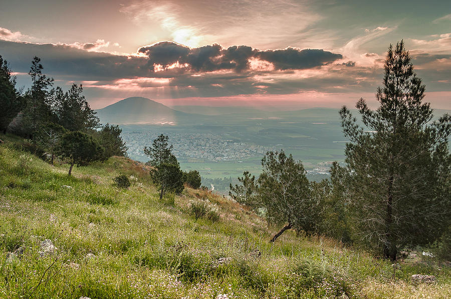 Landscape Photograph - Mt. Tabor From Mt. Of Precipice by Sergey Simanovsky