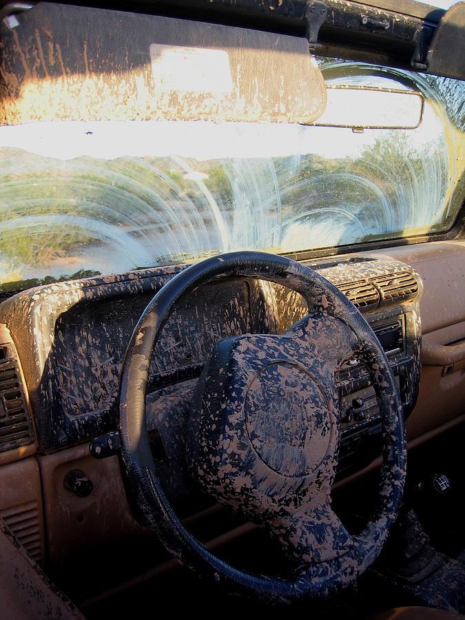 mud splattered car interior casa grande arizona 2004 photograph by david lee guss. Black Bedroom Furniture Sets. Home Design Ideas