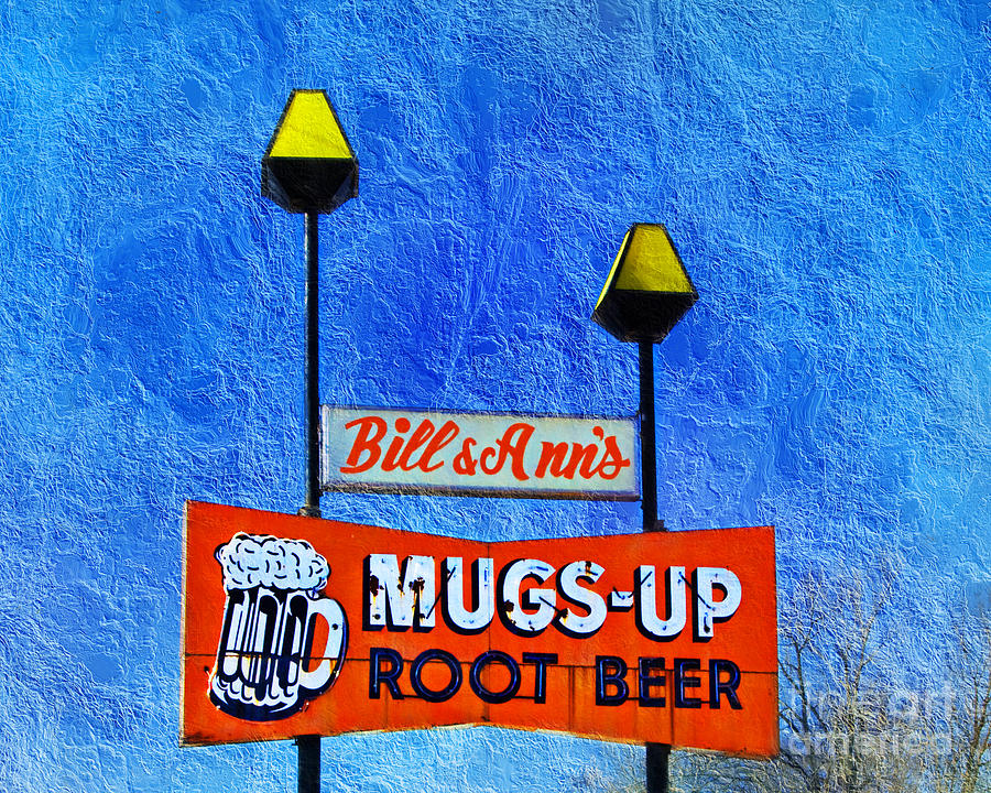 Mugs Up Root Beer Drive In Sign Photograph  - Mugs Up Root Beer Drive In Sign Fine Art Print