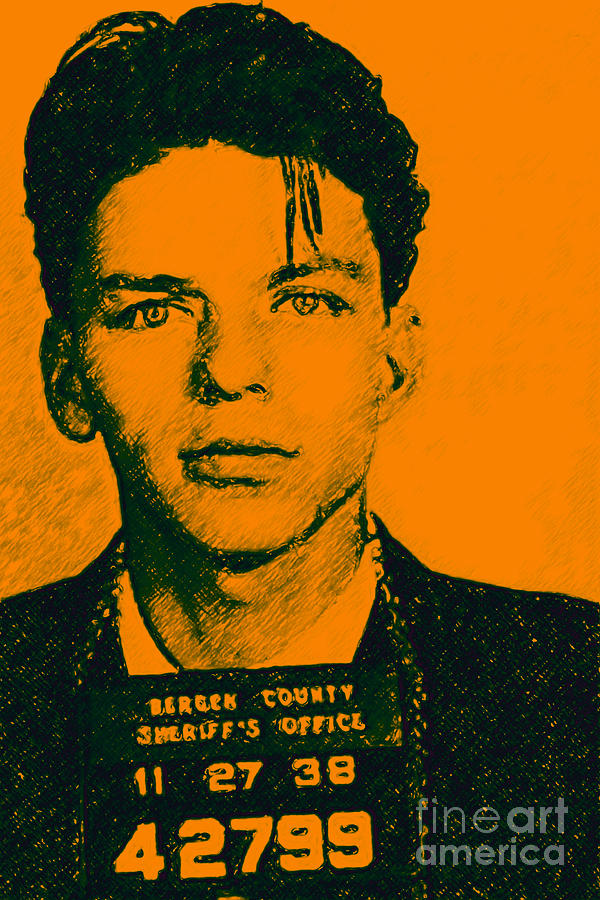 Frank Photograph - Mugshot Frank Sinatra V1 by Wingsdomain Art and Photography